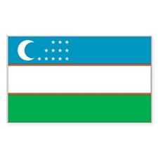 Uzbekistan Country Flag Rectangle Decal