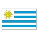 Uruguay Country Flag Rectangle Decal