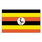 Uganda Country Flag Rectangle Decal