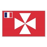Wallis Flag Rectangle Decal
