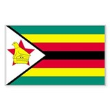 Zimbabwe Country Flag Rectangle Decal