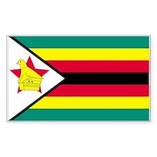 Zimbabwe Country Flag Rectangle Decal