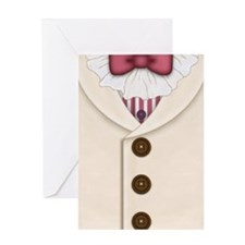 Ivory Suit with Vest and Bowtie Greeting Card