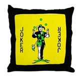 "Yellow ""Joker"" Throw Pillow"