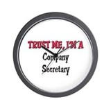 Trust Me I'm a Company Secretary Wall Clock