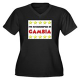 I'm Worshiped In Gambia Women's Plus Size V-Neck D