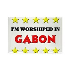 I'm Worshiped In Gabon Rectangle Magnet (10 pack)