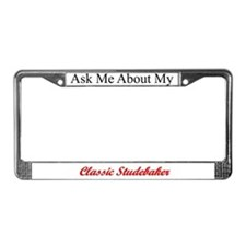 """Ask Me"" License Plate Frame"