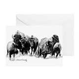 Buffalo Herd Greeting Card