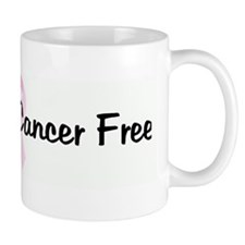 10 Years Cancer Free pink rib Mug