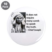 "Truth Quote 3.5"" Button (10 pack)"
