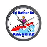 I'd Rather Be Kayaking Wall Clock