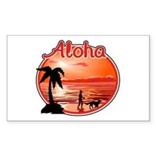 Aloha Rectangle Decal