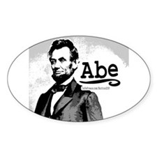 Abe Lincoln Oval Decal
