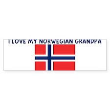 I LOVE MY NORWEGIAN GRANDPA Bumper Bumper Sticker