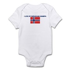 I LOVE MY NORWEGIAN GRANDPA Infant Bodysuit