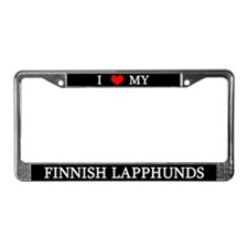 I Love My Finnish Lapphunds License Plate Frame