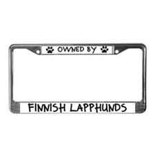 Owned by Finnish Lapphunds License Plate Frame