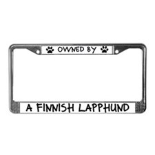 Owned by a Finnish Lapphund License Plate Frame
