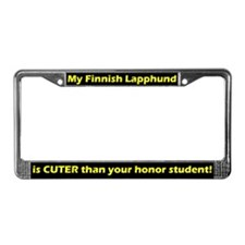 Honor Student Finnish Lapphund License Plate Frame