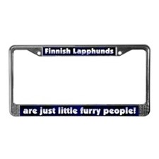 Furry People Finnish Lapphund License Plate Frame
