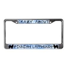 Crazy About Finnish Lapphunds License Plate Frame