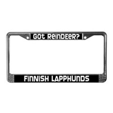 got reindeer? Finnish Lapphund License Plate Frame