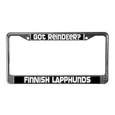 got reindeer? Finnish Lapphund License Plate Frame