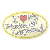 Hypno I Love My Finnish Lapphund Sticker Ylw