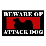 Beware of Attack Dog Finnish Lapphund Decal