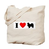 I Heart Finnish Lapphund Tote Bag