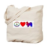 Peace Love Finnish Lapphund Tote Bag