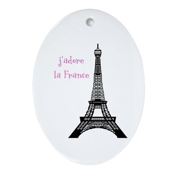 j'adore Oval Ornament