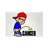 Piss On Cancer Rectangle Magnet
