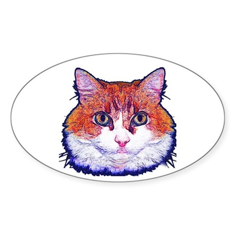 Pretty Kitty Oval Sticker