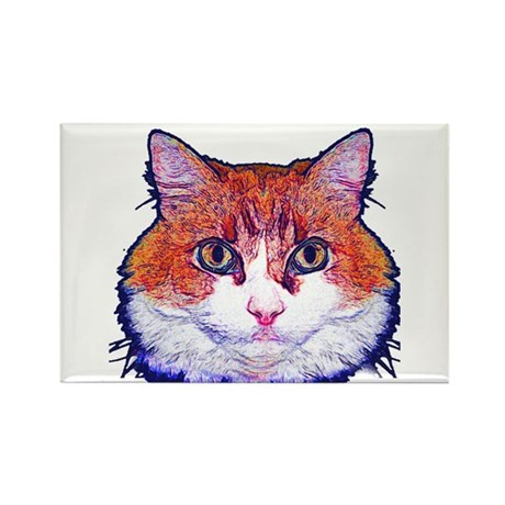 Pretty Kitty Rectangle Magnet (10 pack)