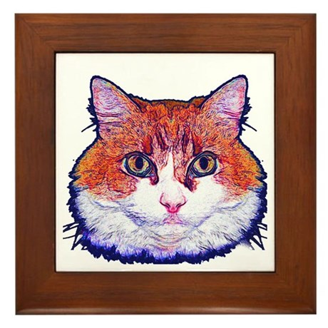 Pretty Kitty Framed Tile
