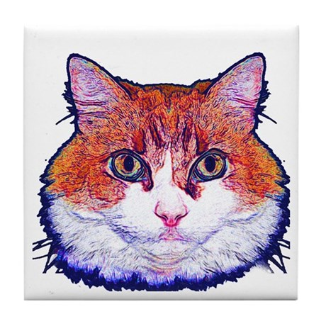 Pretty Kitty Tile Coaster
