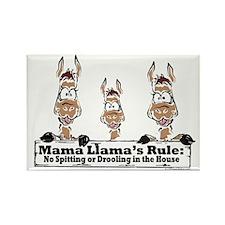Mama Llamas Rules Rectangle Magnet (10 pack)