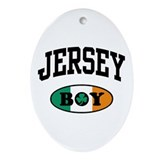 Irish Jersey Boy Oval Ornament