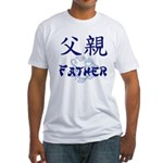 Father Fitted T-Shirt (navy blue text)