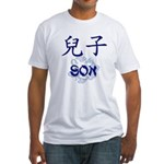 Son Fitted T-Shirt (navy blue text)