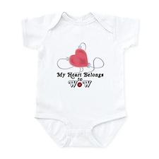 My Heart Belongs to WoW Infant Bodysuit
