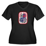 Riverside Paramedic Women's Plus Size V-Neck Dark