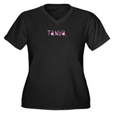 Tanya Women's Plus Size V-Neck Dark T-Shirt