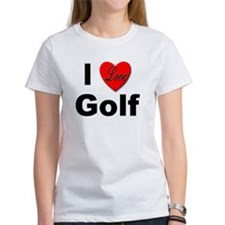 I Love Golf for Golfers (Front) Tee