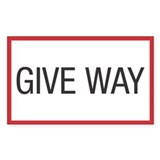Give Way Rectangle Decal
