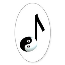 Yin Yang Oval Decal