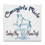 Cowgirl's Rule Cowboy's Obey Tile Coaster