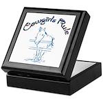 Cowgirl's Rule Keepsake Box
